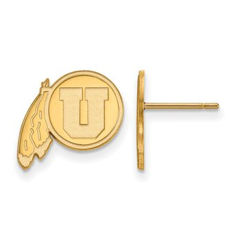 Gold-Plated Sterling Silver University of Utah NCAA Earrings