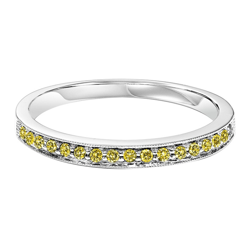 10K Treated Yellow Diamonds Band