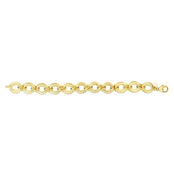 14K Gold Polished Round Link Chain