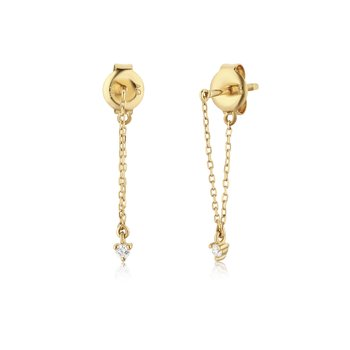 LAUREL | Diamond Chain Earrings
