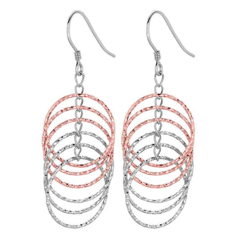 Royal Chain Silver Two-tone Multi Row Circle Earring