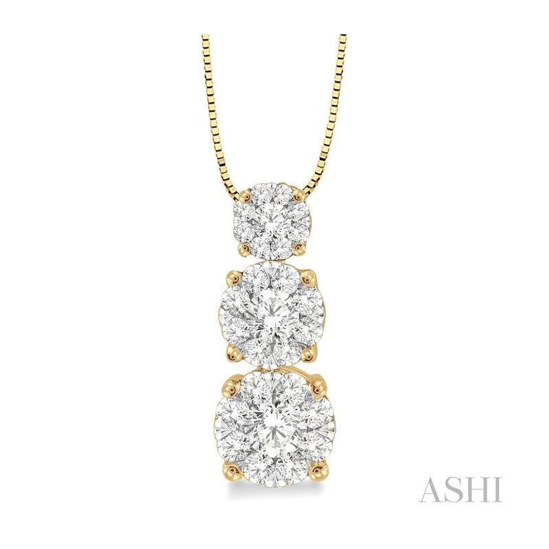 Crocker's Collection past present & future lovebright diamond pendant
