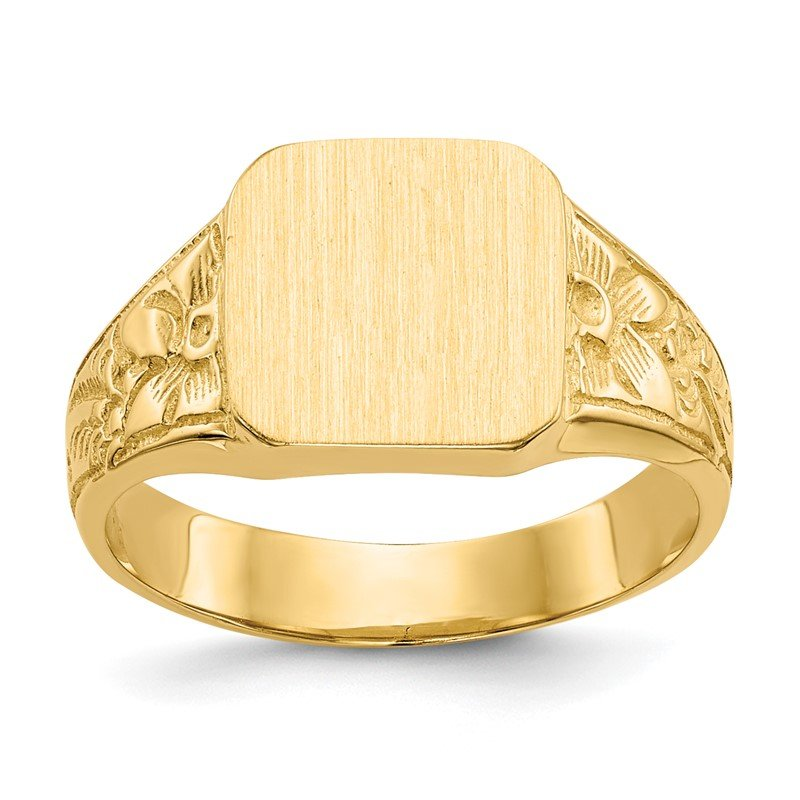 Fine Jewelry by JBD 14K Square Polished Baby Signet Ring