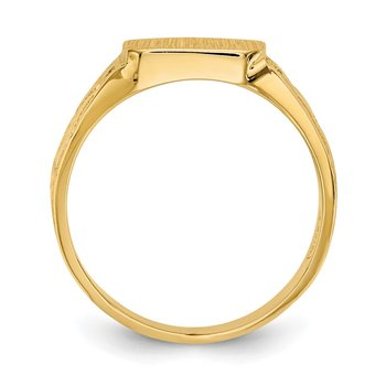 14K Square Polished Baby Signet Ring
