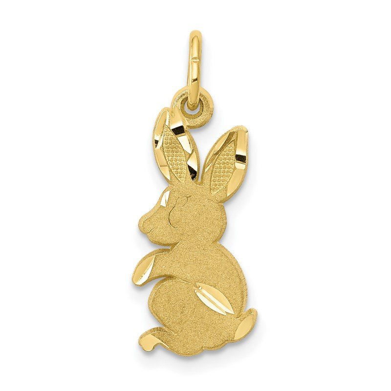 Quality Gold 10k Baby Bunny Charm
