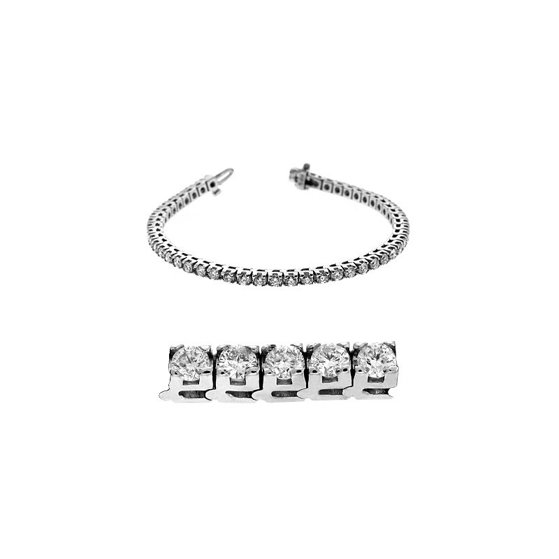 S. Kashi  & Sons Four Prong Tennis Bracelet