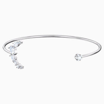 Penélope Cruz Moonsun Cuff, White, Rhodium plated