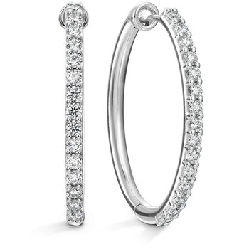 0.96 ctw. HOF Oval Classic Diamond Hoop - Large