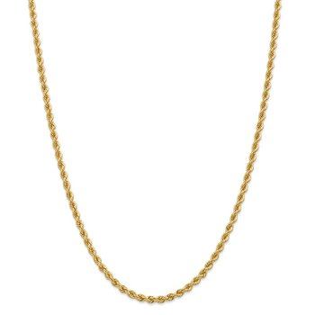 14k 3.65mm Regular Rope Chain