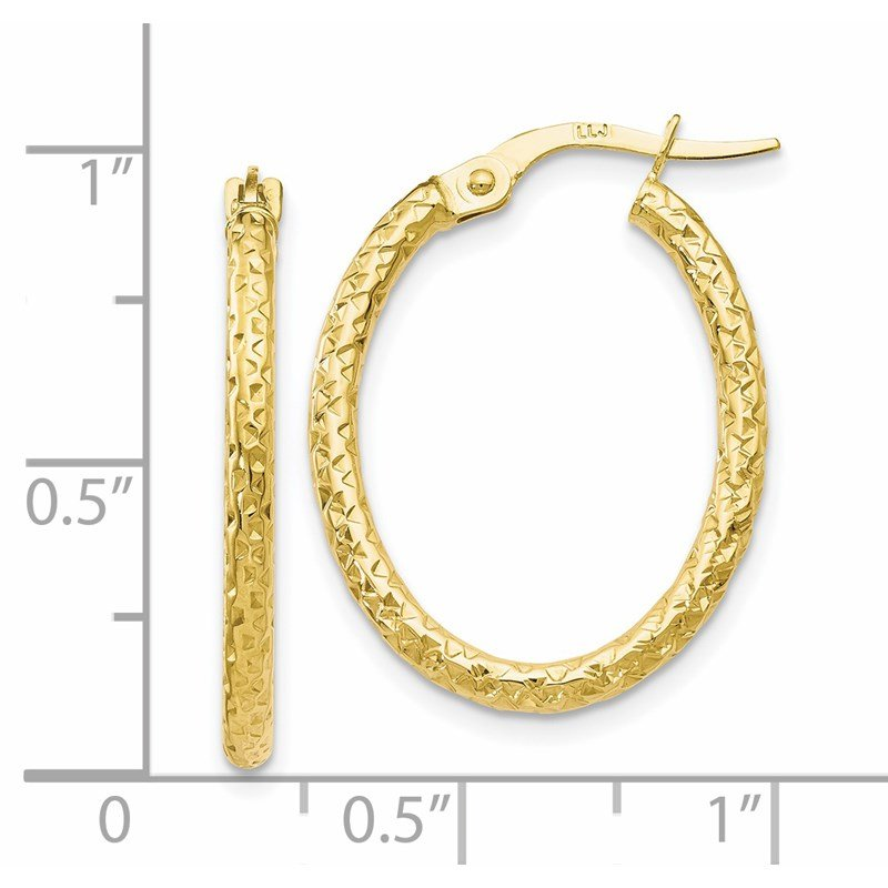 Leslie's Leslie's 10K Polished D/C Oval Hoop Earrings
