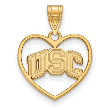 Gold-Plated Sterling Silver University of Southern California NCAA Pendant