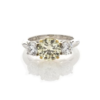 LIGHT YELLOW BRILLIANT 1.70 CT