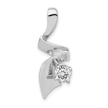 14k White Gold Holds 1-5mm AA Diamond Slide