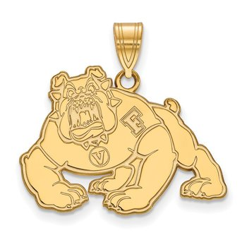 Gold California State University Fresno NCAA Pendant