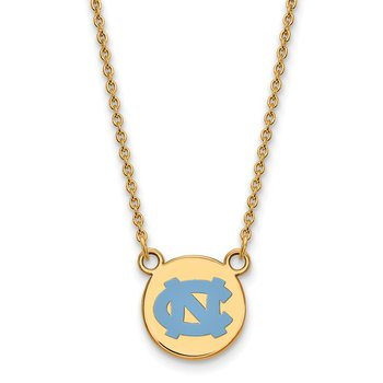 Gold-Plated Sterling Silver University of North Carolina NCAA Necklace