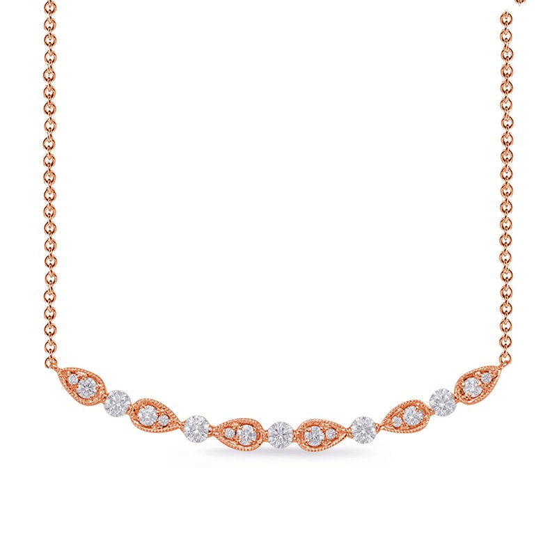 Briana Rose Gold Diamond Necklace