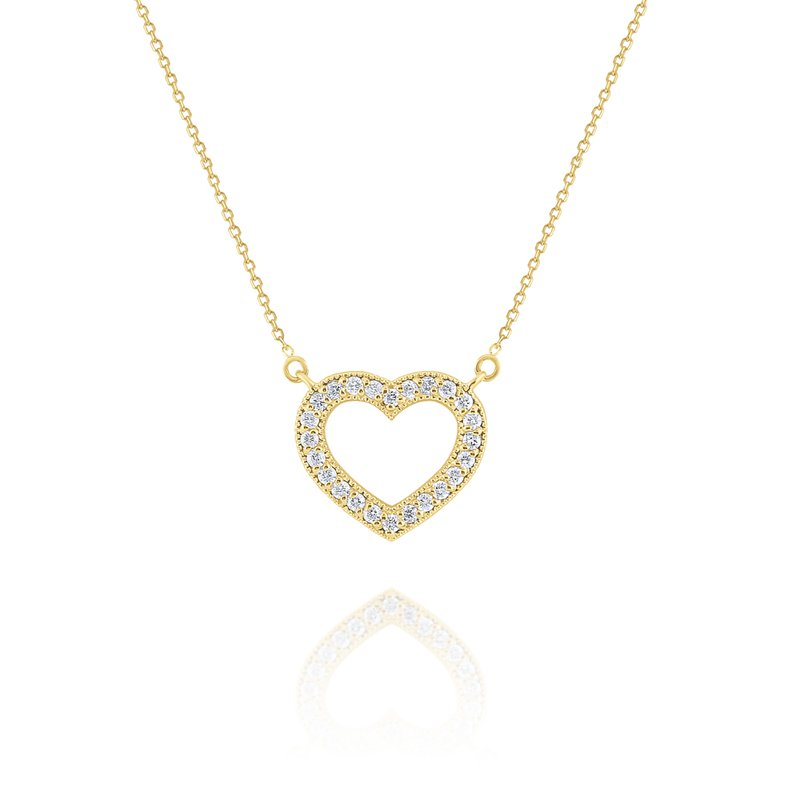 KC Designs Diamond Heart Pendant Set in 14 Kt. Gold