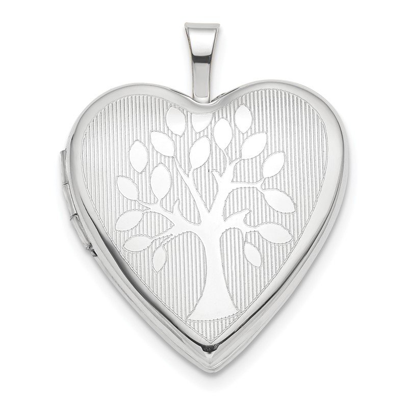 Quality Gold 14K White Gold 20mm Tree Heart Locket