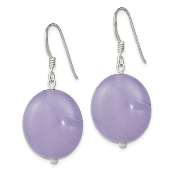 Sterling Silver Lavender Jade Earrings