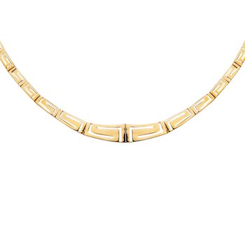14K Gold Greek Key Necklace