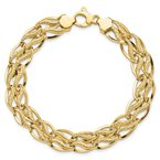 Quality Gold 14K 8 inch Fancy Link Bracelet