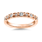 Valina Stackable Wedding Band in 14K Rose Gold (.24 ct. tw.)