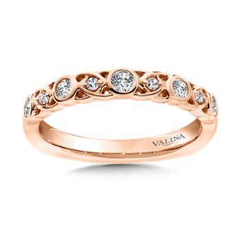 Stackable Wedding Band in 14K Rose Gold (.24 ct. tw.)