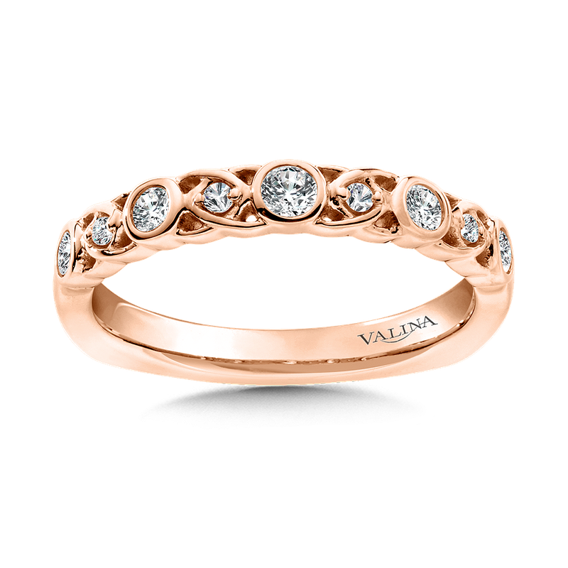 Valina Bridals Stackable Wedding Band in 14K Rose Gold (.24 ct. tw.)