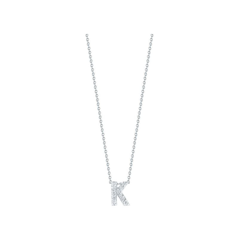 Roberto Coin Love Letter K Pendant With Diamonds