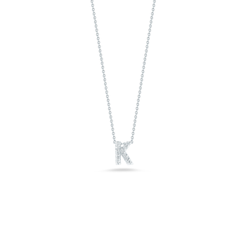 18Kt Gold Love Letter K Pendant With Diamonds