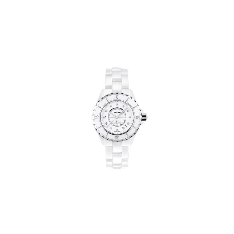Chanel J12 White with Diamond Indicators