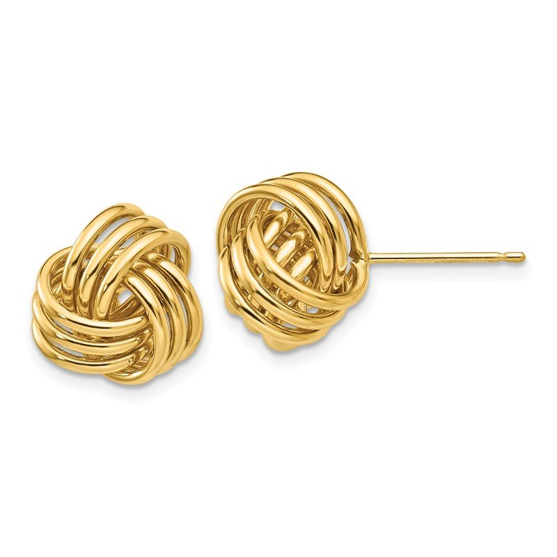 J.F. Kruse Signature Collection 14k Polished Triple Knot Post Earrings