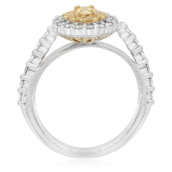 Round Two Tone Diamond Ring
