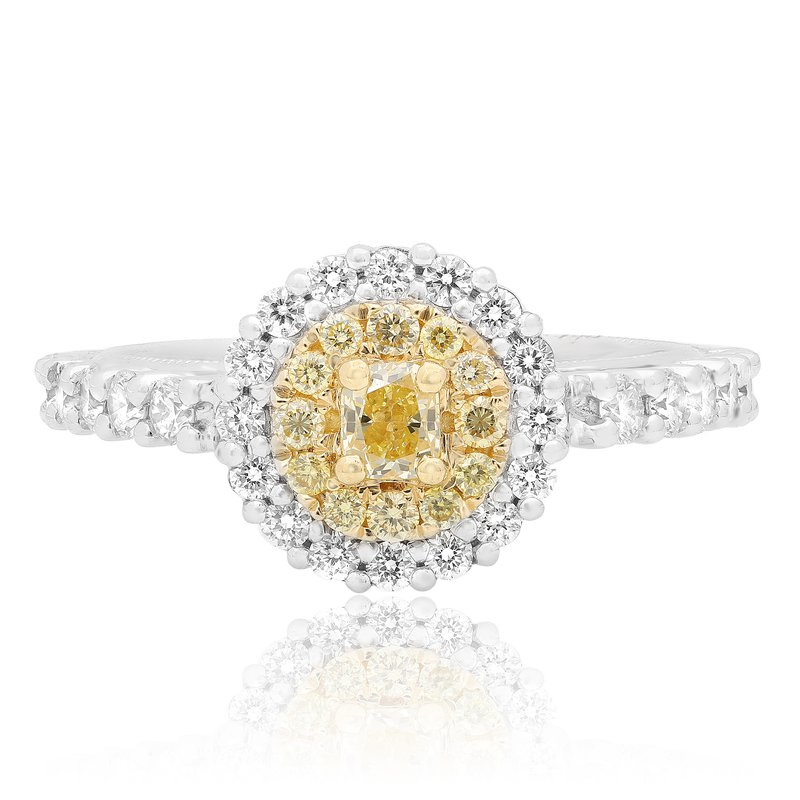 Roman & Jules Round Two Tone Diamond Ring