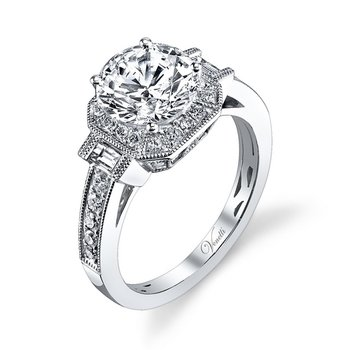 14K W RING 38RD 0.40CT 2BG 0.17CT