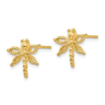 14k Dragonfly Post Earrings