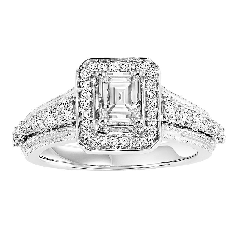 Bridal Bells 14K Diamond Engagement Ring 3/4 ctw with 3/4 Ct Center