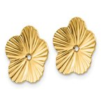 Quality Gold 14k Polished Fancy Earring Jackets