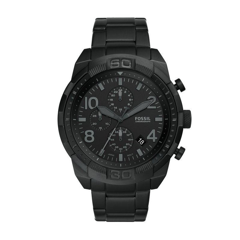 Fossil Bronson Chronograph Black Stainless Steel Watch