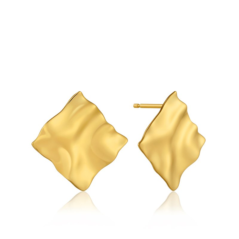 Ania Haie CRUSH SQUARE STUD EARRINGS