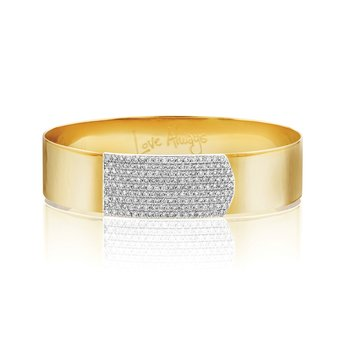 Yellow gold diamond large Affair strap bracelet