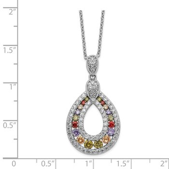 Cheryl M SS Multicolor CZ Necklace