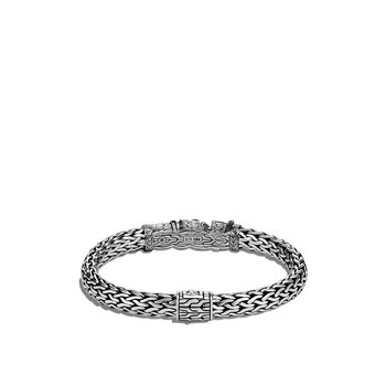 Classic Chain 7.5MM Station Bracelet in Silver and 18K Gold