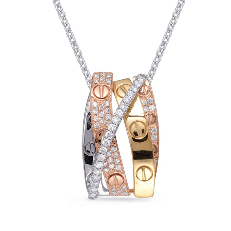 Briana Rose & Yellow & White Gold Pendant