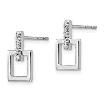 SS White Ice .05ct. Diamond Earrings