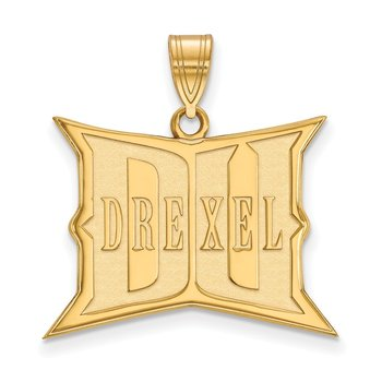 Gold-Plated Sterling Silver Drexel University NCAA Pendant