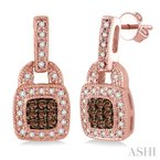 ASHI champagne diamond earrings