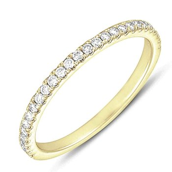 Yellow Gold Matching Diamond Band