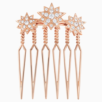 Penélope Cruz Moonsun Limited Edition Hair Pin, White, Rose gold plating