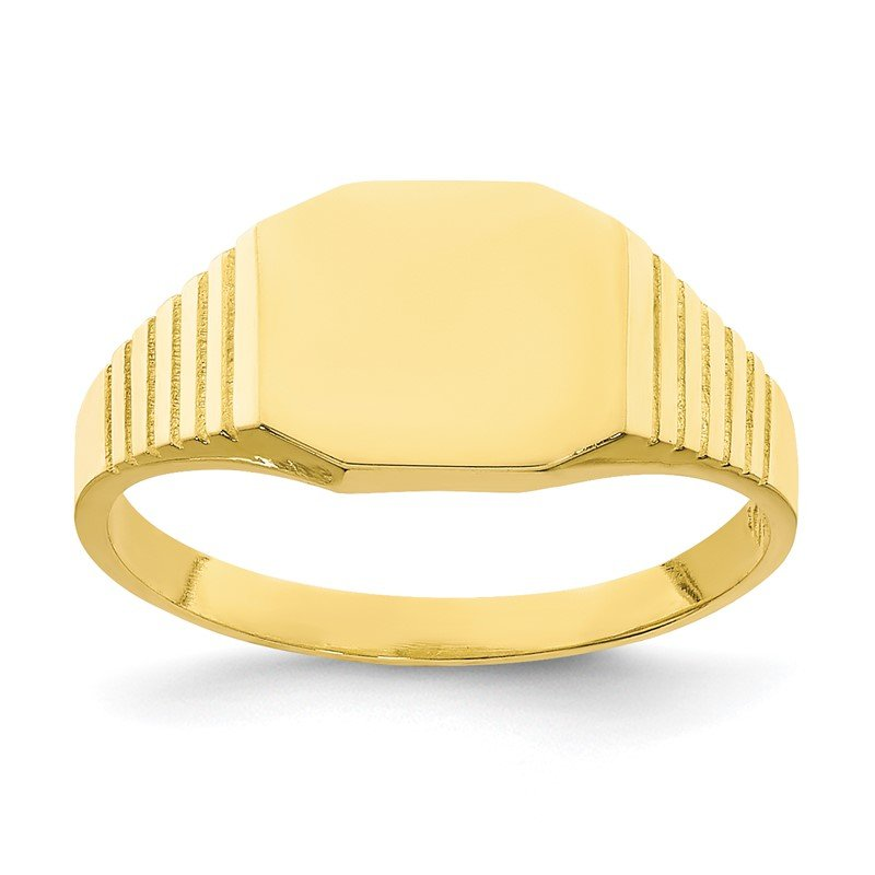 Quality Gold 10K Signet Baby Ring